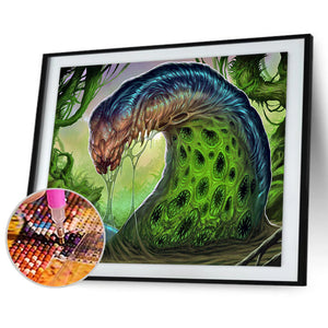 Fierce Monster 30X40CM(Canvas) Full Round Drill Diamond Painting