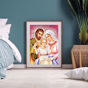Jesus Family 40X50CM(Canvas) Full Round Drill Diamond Painting