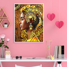 Load image into Gallery viewer, Black Women 40X50CM(Canvas) Full Round Drill Diamond Painting