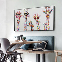 Load image into Gallery viewer, Funny Giraffe Color 85X45CM(Canvas) Full Round Drill Diamond Painting