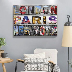 Cities 40X30CM(Canvas) Full Round Drill Diamond Painting