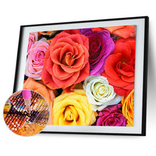 Load image into Gallery viewer, Rose 40X30CM(Canvas) Full Round Drill Diamond Painting