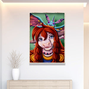 Cartoon 30X40CM(Canvas) Full Round Drill Diamond Painting