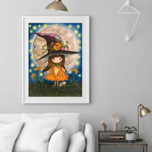 Load image into Gallery viewer, Little Witch Cat   30*40cm(canvas) full round drill diamond painting