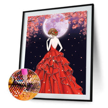 Load image into Gallery viewer, Red Dress Girl Shaped 30*40cm(canvas) partial special shaped drill diamond painting