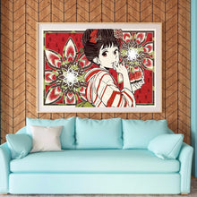 Load image into Gallery viewer, Kimono Girl 50*35cm(canvas) full round drill diamond painting