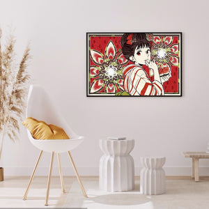 Kimono Girl 50*35cm(canvas) full round drill diamond painting