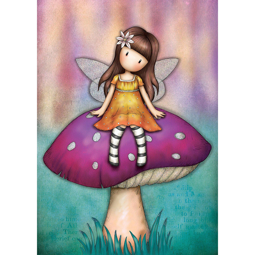 Gorjuss Doll 30*40CM(Canvas) Full Round Drill Diamond Painting