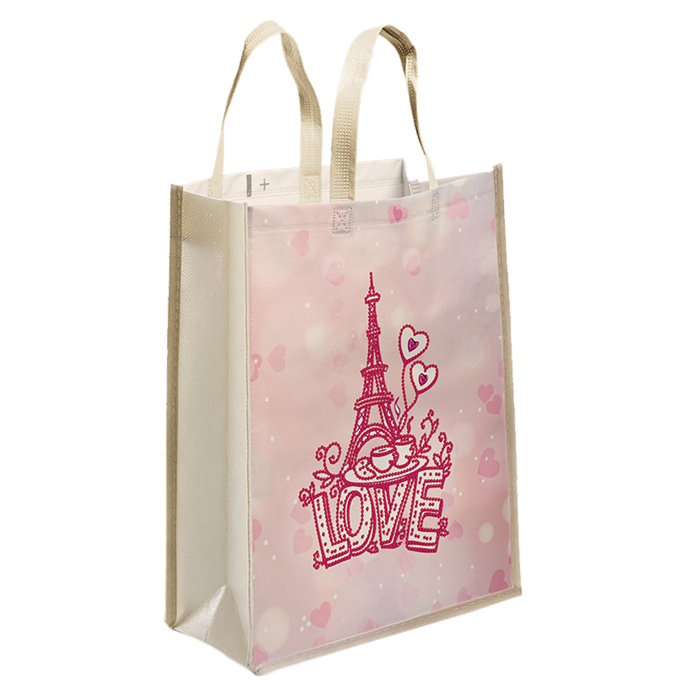 DIY Diamond Painting Handbag Mosaic Drill Eco-friendly Bags (Eiffel Tower)