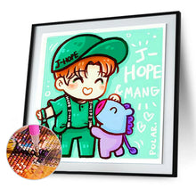 Load image into Gallery viewer, Cartoon Boy 30*30CM(Canvas) Full Round Drill Diamond Painting