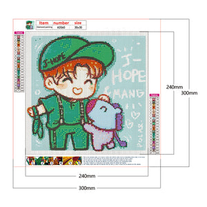 Cartoon Boy 30*30CM(Canvas) Full Round Drill Diamond Painting