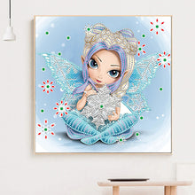Load image into Gallery viewer, Elf Big Eyes 30*30CM(Canvas) Beautiful Special Shaped Drill Diamond Painting