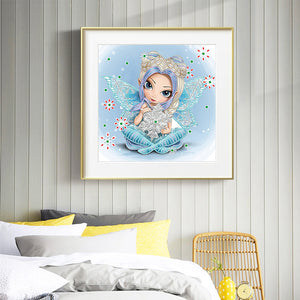 Elf Big Eyes 30*30CM(Canvas) Beautiful Special Shaped Drill Diamond Painting