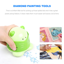 Load image into Gallery viewer, Mini Diamond Painting Tool Drill Desktop Vacuum Cleaner Cleaning Machine (Green)