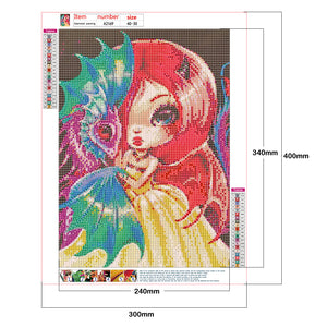 Cute Big Eyes Elf 30*40CM(Canvas) Full Round Drill Diamond Painting
