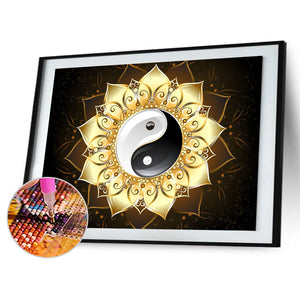 Mandala Flower 40*30CM(Canvas) Full Round Drill Diamond Painting