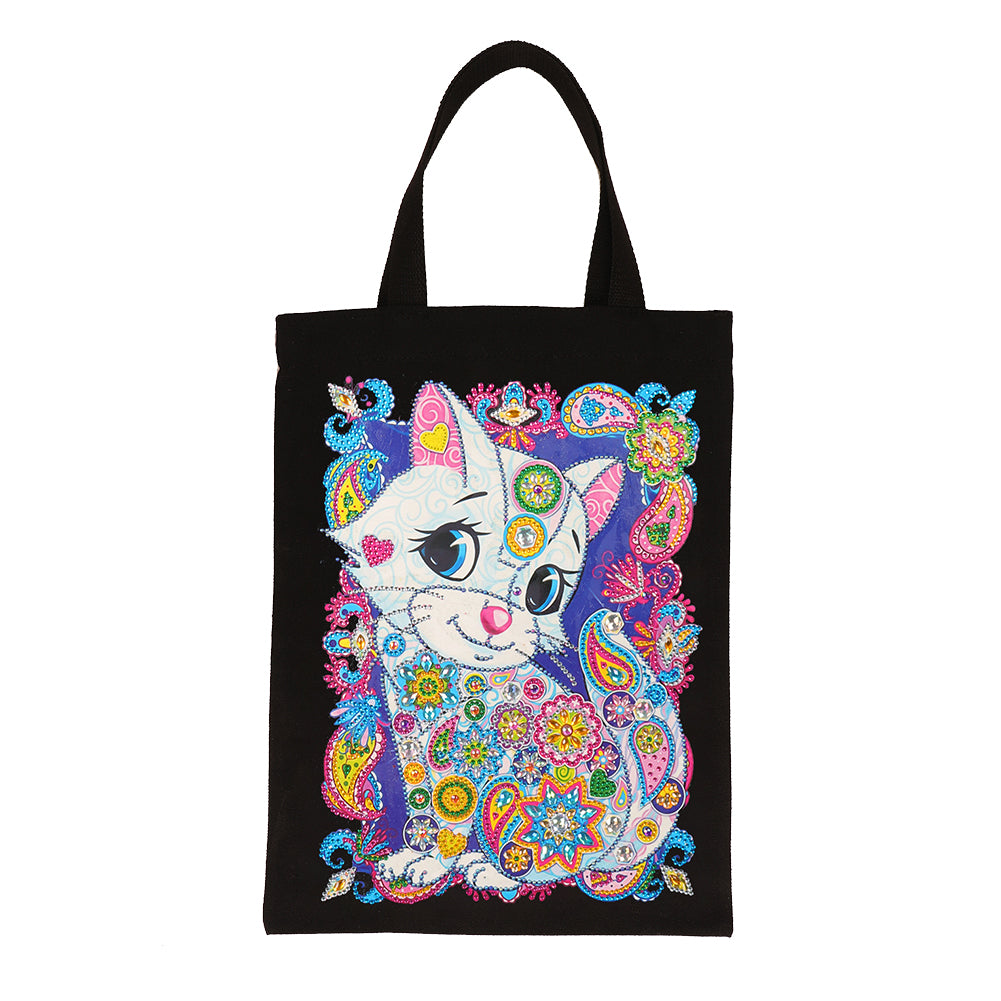 Kids Diamond Painting Toy Children DIY Eco-friendly Canvas Bag Gift (WX036)