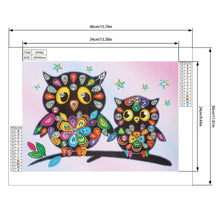 Load image into Gallery viewer, Cartoon Owl 40*30CM(Canvas) Beautiful Special Shaped Drill Diamond Painting