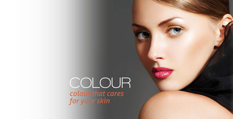 Banner for Annique's Colour Caress range of makeup products