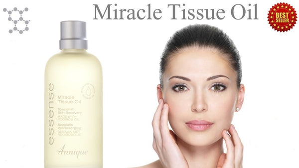 Woman with Essense Miracle Tissue Oil