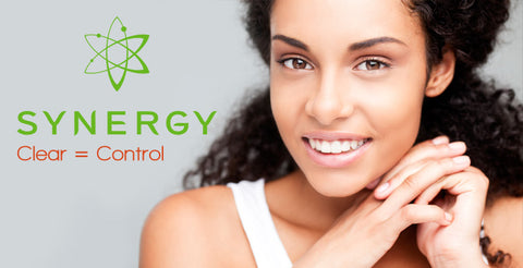 Banner for Annique's Synergy range of skincare products for Oily Skin and Dark Skin