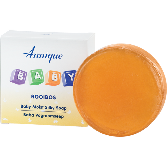 A bar of Annique's Baby Rooibos Moist Silky Soap