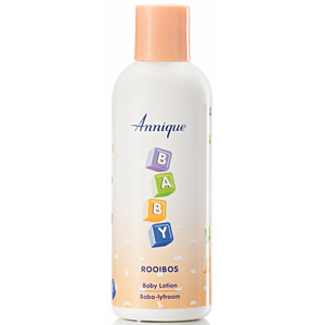 A bottle of Annique's Baby Rooibos Body Lotion