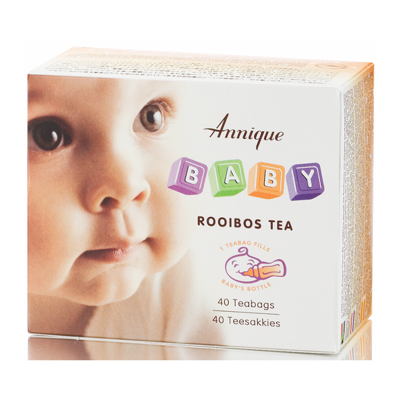 A box of Annique's Baby Rooibos Tea