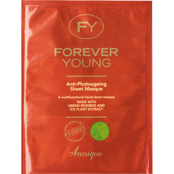 1 pack of Annique's Forever Young Anti-Photoageing Sheet Masque with Rooibos for Anti-Ageing