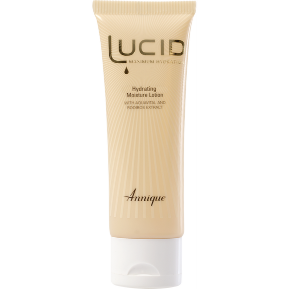A tube of Annique's Lucid Hydrating Moisture Lotion with Rooibos for Dry Skin
