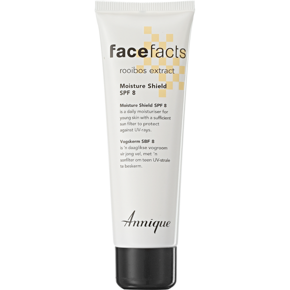 A tube of Annique's Face Facts Moisturiser with Rooibos for Young & Problem Skin