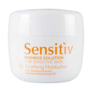 A tub of Annique's Sensitiv Moisturiser with Rooibos for Sensitive Skin