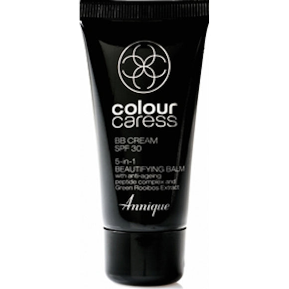 A tube of Annique's Colour Caress BB Cream with Rooibos for Skincare