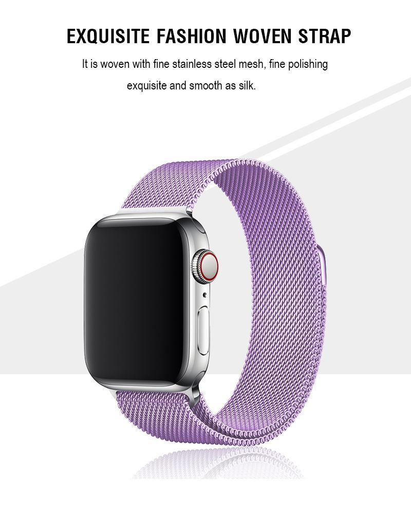 Lavender Milanese Apple Watch Band