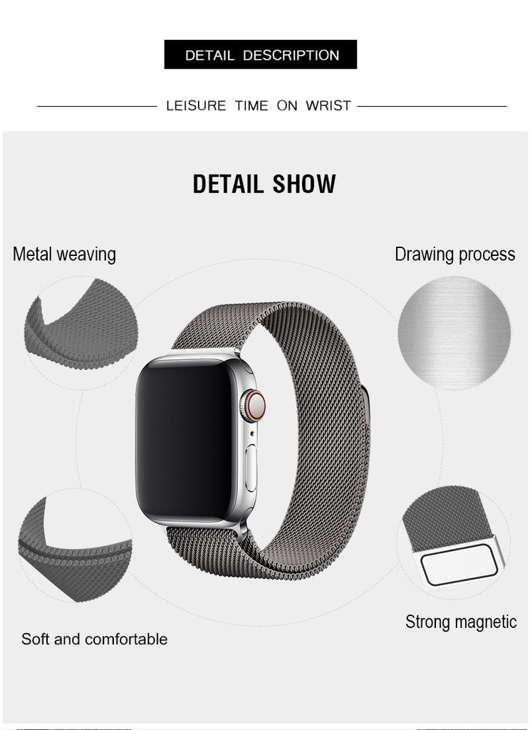 Space Gray Milanese Apple Watch Band
