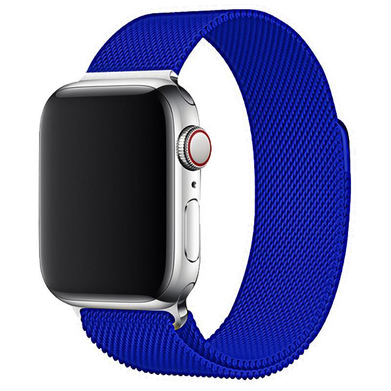 Royal Blue Milanese Apple Watch Band