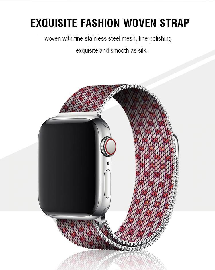 Stripe Milanese Apple Watch Band