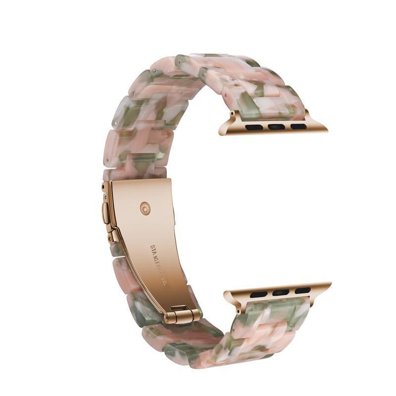 Pink'n Green Resin Band For Apple Watch