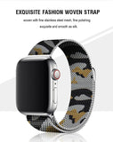 Yellow Camouflage Milanese Apple Watch Band
