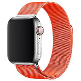 Orange Milanese Apple Watch Band