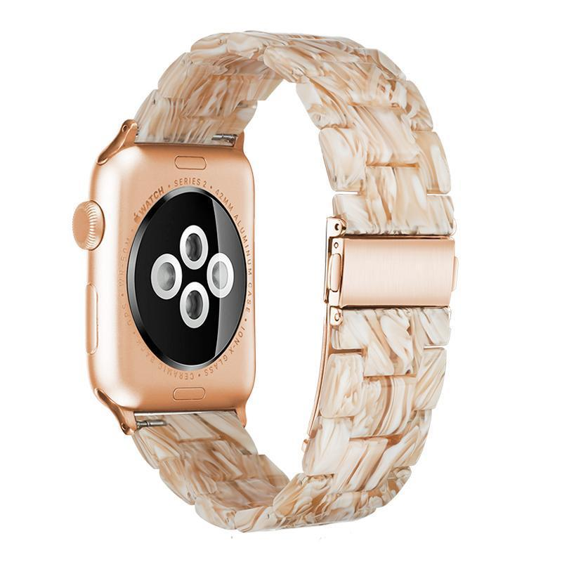 Silk White Resin Band For Apple Watch