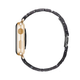 Black Bloom Resin Band For Apple Watch