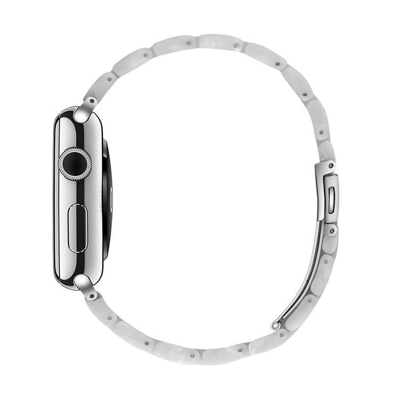 Pearl White Resin Band For Apple Watch