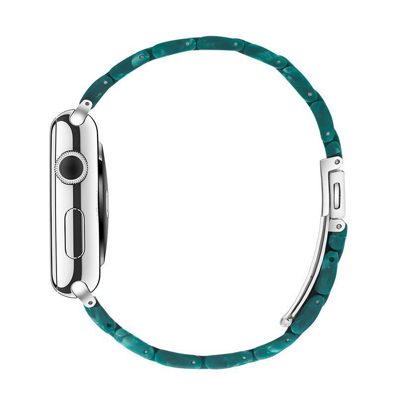 Matte Green Resin Band For Apple Watch