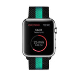 Black'n Teal Green Milanese Apple Watch Band