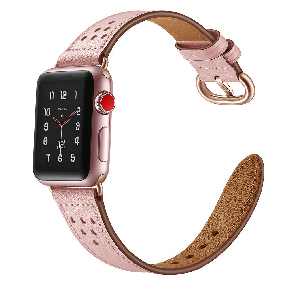 Leather loop strap For Apple Watch band38mm 40mm 42mm 44mm bracelet Genuine Leathe Strap for iWatch band Series 5/4/3/2/1