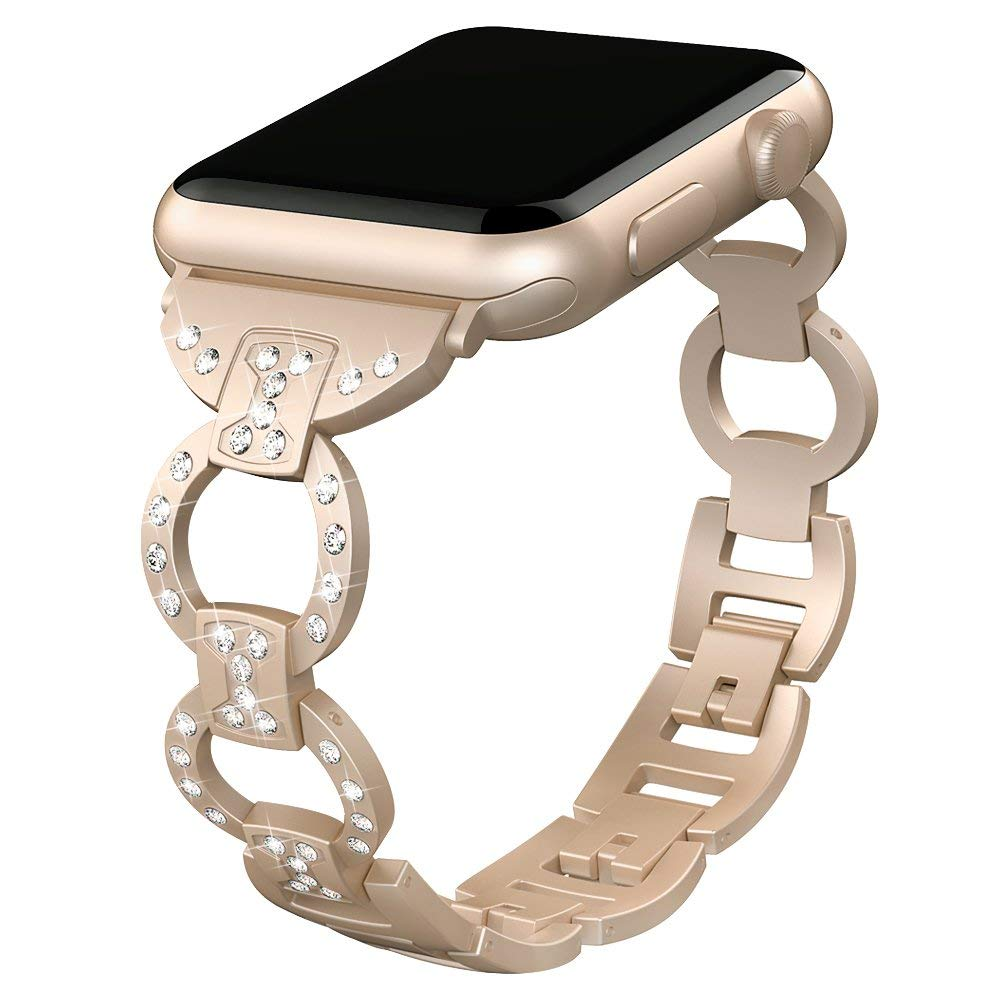 Women Stainless Steel Strap for Apple Watch 40mm 44mm iwatch 5 4 Band Diamond Bracelet for Apple Watch 38mm 42mm Series 3 2 1