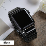 Ceramic Strap for Apple Watch Band 44 mm 40mm iwatch band 42mm 38mm Luxury Stainless steel buckle bracelet Apple watch 5 4 3 2 1