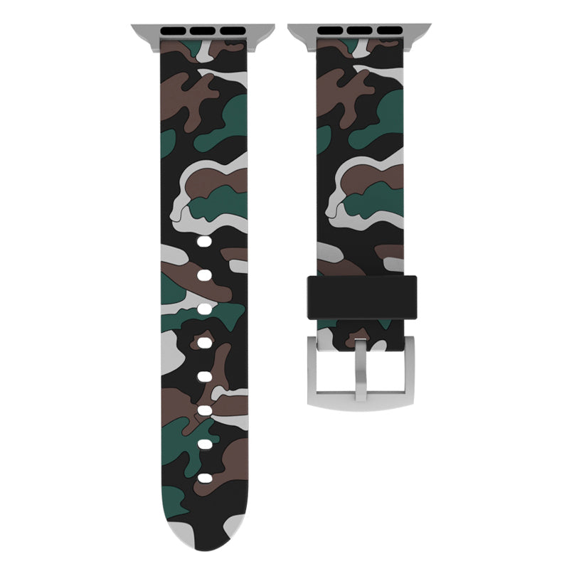 Camouflage strap for Apple watch band 44 mm 40mm iWatch band 42mm 38mm Silicone sport bracelet watchband for Apple watch 5 4 3 2