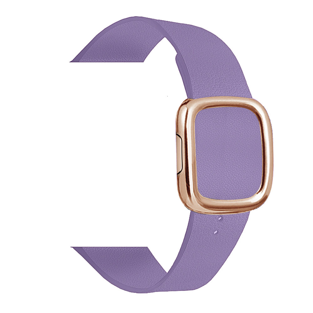 Leather Loop Strap For apple watch band 4 44/40mm modern style Bracelet wrist band accessories For iWatch series 3/2/1 42/38mm
